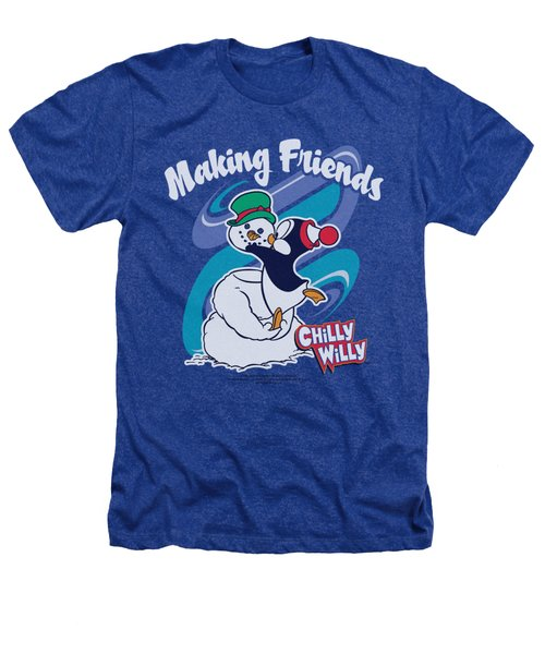 Chilly Willy - Making Friends Heathers T-Shirt