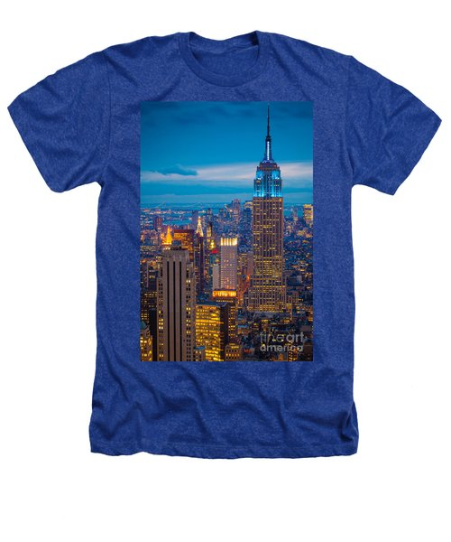 Empire State Blue Night Heathers T-Shirt by Inge Johnsson