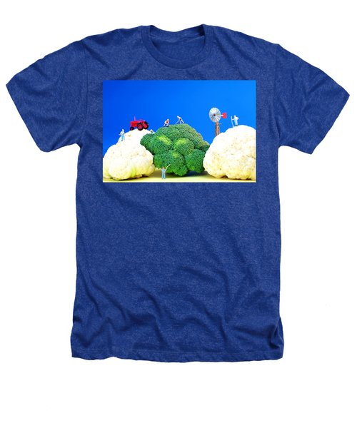 Farming On Broccoli And Cauliflower Heathers T-Shirt by Paul Ge