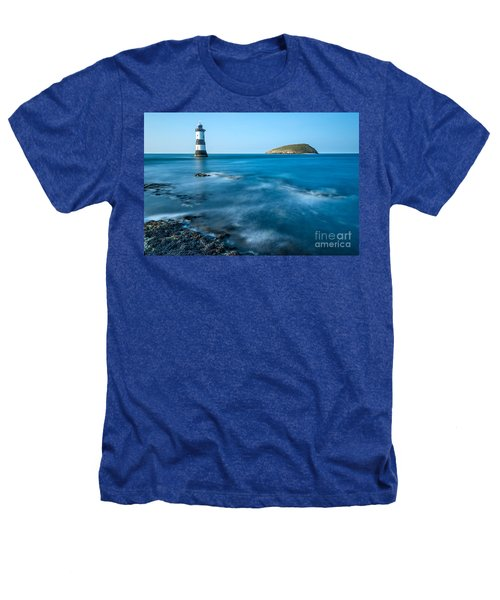 Lighthouse At Penmon Point Heathers T-Shirt