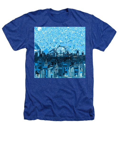 London Skyline Abstract Blue Heathers T-Shirt