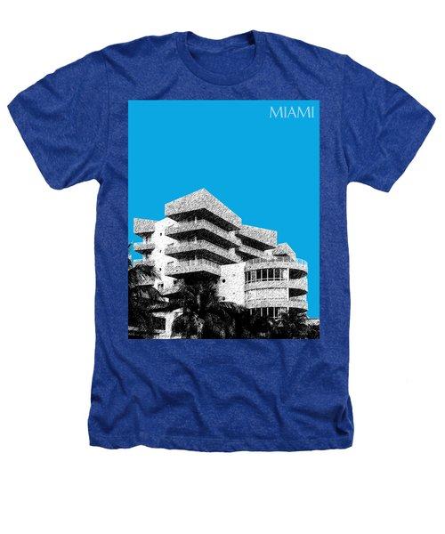 Miami Skyline Art Deco District - Ice Blue Heathers T-Shirt