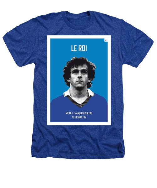My Platini Soccer Legend Poster Heathers T-Shirt by Chungkong Art