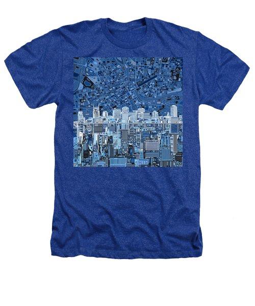 Nashville Skyline Abstract Heathers T-Shirt by Bekim Art