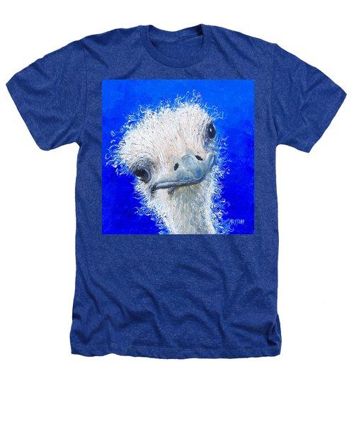 Ostrich Painting 'waldo' By Jan Matson Heathers T-Shirt by Jan Matson