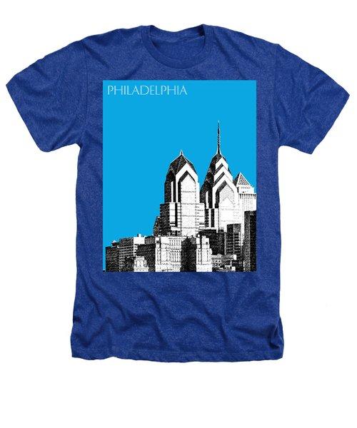 Philadelphia Skyline Liberty Place 1 - Ice Blue Heathers T-Shirt