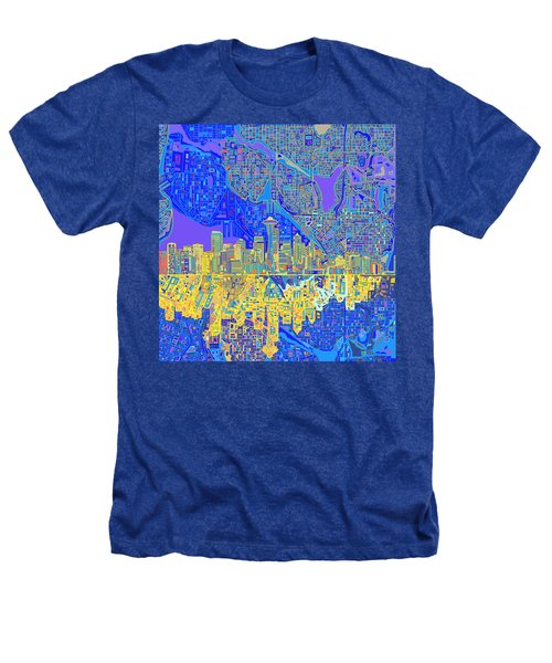 Seattle Skyline Abstract 6 Heathers T-Shirt
