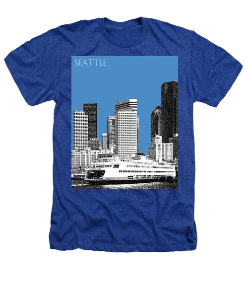 Seattle Skyline - Slate Heathers T-Shirt
