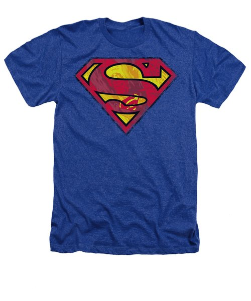 Superman - Action Shield Heathers T-Shirt
