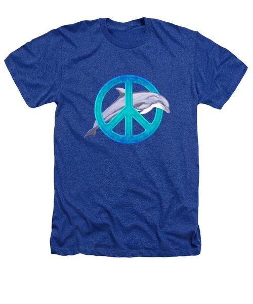 Dolphin Peace Heathers T-Shirt