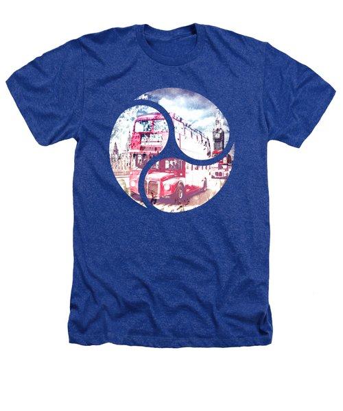 Graphic Art London Westminster Bridge Streetscene Heathers T-Shirt by Melanie Viola