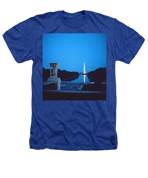 Night View Of The Washington Monument Across The National Mall Heathers T-Shirt by American School