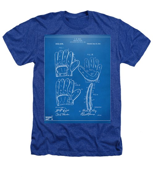 1910 Baseball Glove Patent Artwork Blueprint Heathers T-Shirt