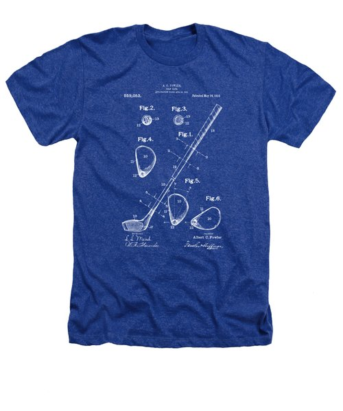 1910 Golf Club Patent Artwork Heathers T-Shirt by Nikki Marie Smith