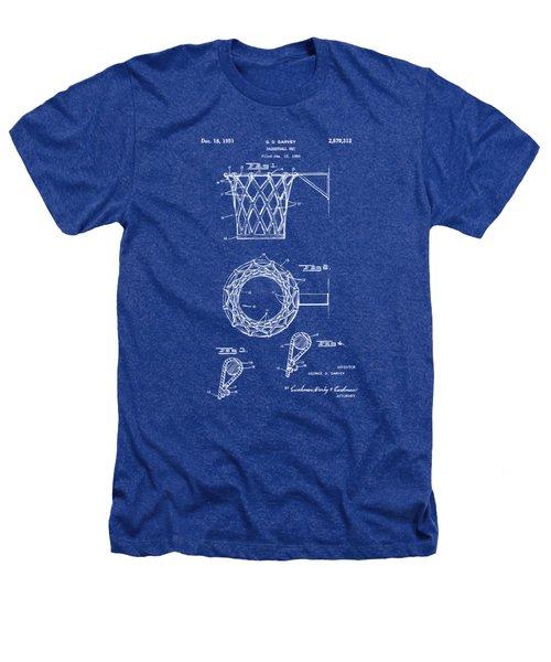 1951 Basketball Net Patent Artwork - Blueprint Heathers T-Shirt
