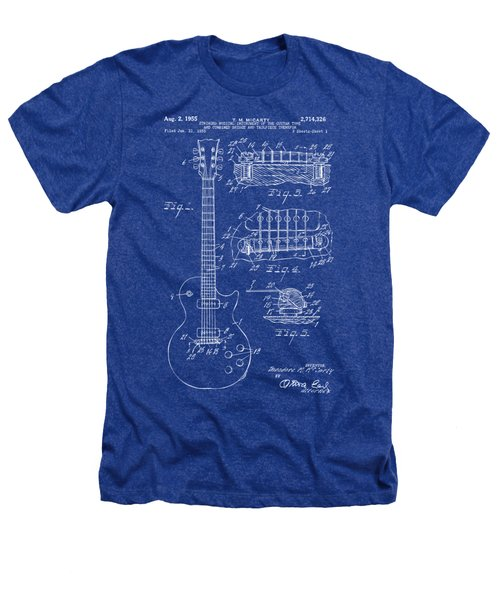 1955 Mccarty Gibson Les Paul Guitar Patent Artwork Blueprint Heathers T-Shirt