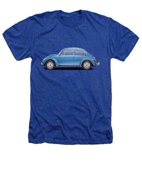 1975 Volkswagen Super Beetle - Ancona Blue Metallic Heathers T-Shirt by Ed Jackson