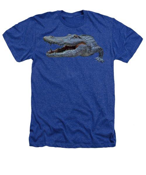 1998 Bull Gator Up Close Transparent For Customization Heathers T-Shirt by D Hackett