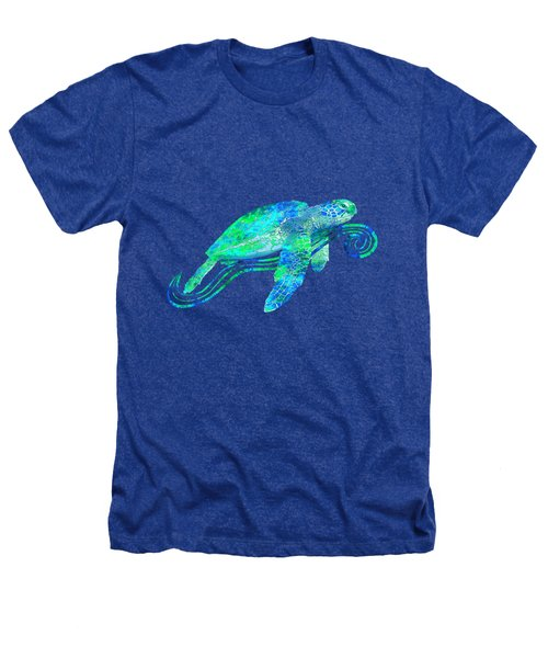 Sea Turtle Graphic Heathers T-Shirt by Chris MacDonald