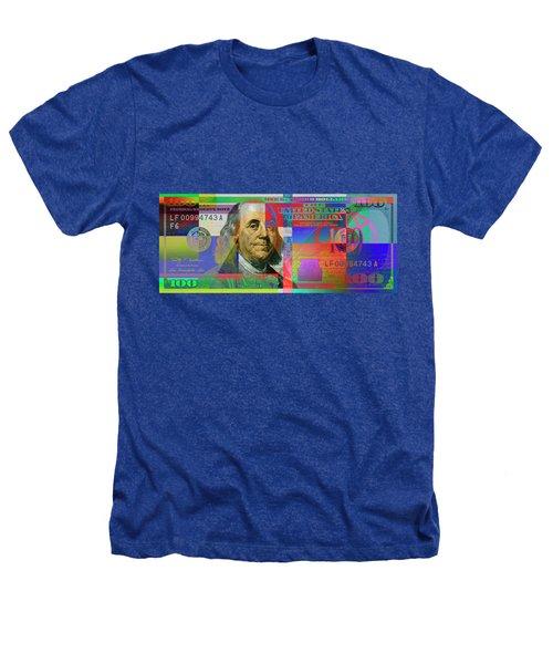 2009 Series Pop Art Colorized U. S. One Hundred Dollar Bill No. 1 Heathers T-Shirt