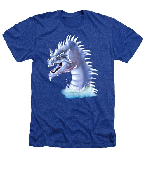Arctic Ice Dragon Heathers T-Shirt by Glenn Holbrook