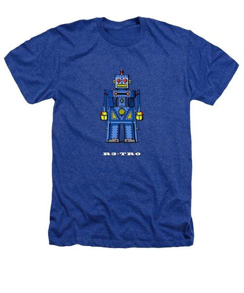 R3 Tr0 Robot Heathers T-Shirt by Mark Rogan