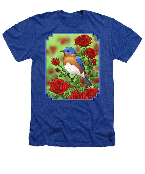 New York State Bluebird And Rose Heathers T-Shirt by Crista Forest