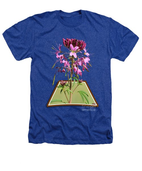 Rocky Mountain Bee Plant Heathers T-Shirt by Shane Bechler
