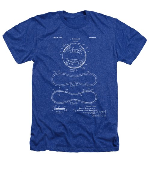 1928 Baseball Patent Artwork - Blueprint Heathers T-Shirt