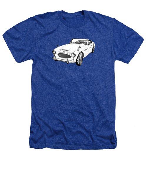 Austin Healey 300 Sports Car Drawing Heathers T-Shirt by Keith Webber Jr