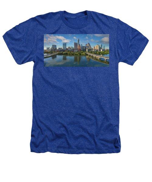 Austin Skyline Panorama Spring Afternoon 7-1 Heathers T-Shirt by Rob Greebon