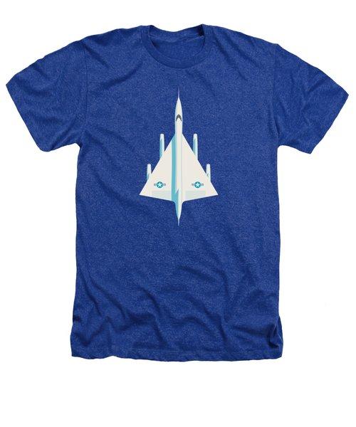 B-58 Hustler Supersonic Jet Bomber - Blue Heathers T-Shirt