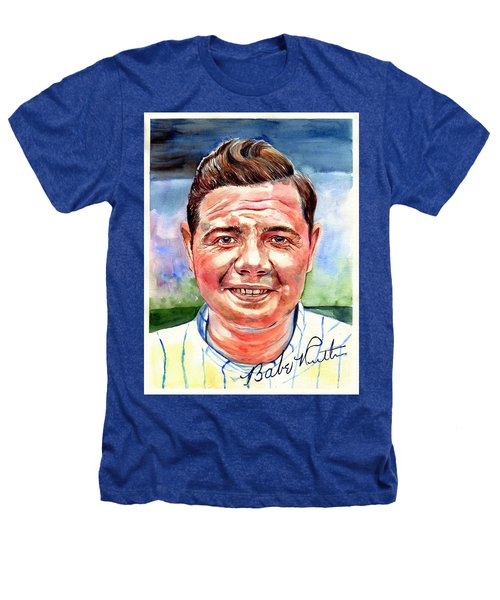Babe Ruth Portrait Heathers T-Shirt