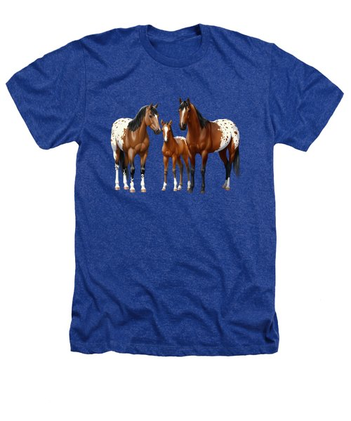Bay Appaloosa Horses In Winter Pasture Heathers T-Shirt by Crista Forest