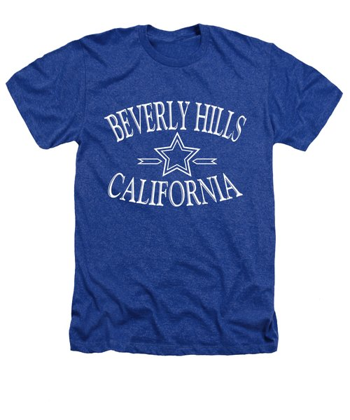 Beverly Hills California - Tshirt Design Heathers T-Shirt by Art America Gallery Peter Potter