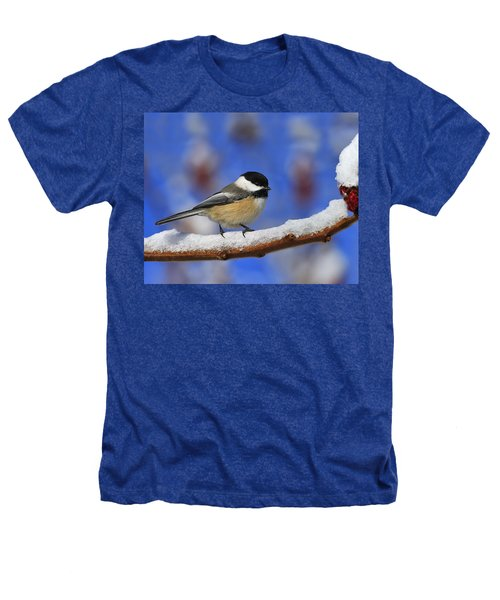 Black-capped Chickadee In Sumac Heathers T-Shirt