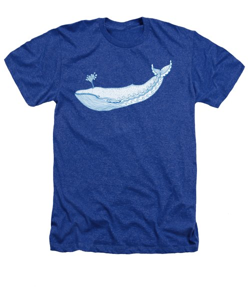 Blue Whale Heathers T-Shirt by Eko Octavianus