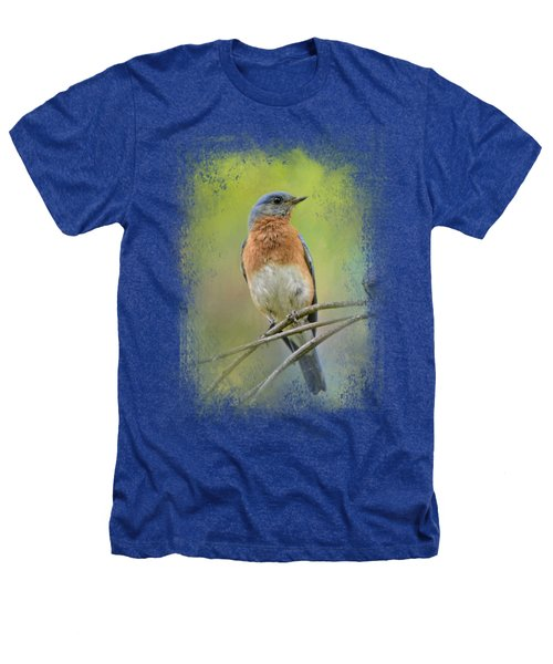 Bluebird On A Spring Day Heathers T-Shirt by Jai Johnson