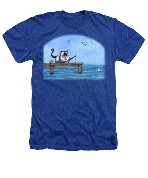 Cat Fish Heathers T-Shirt by Temah Nelson