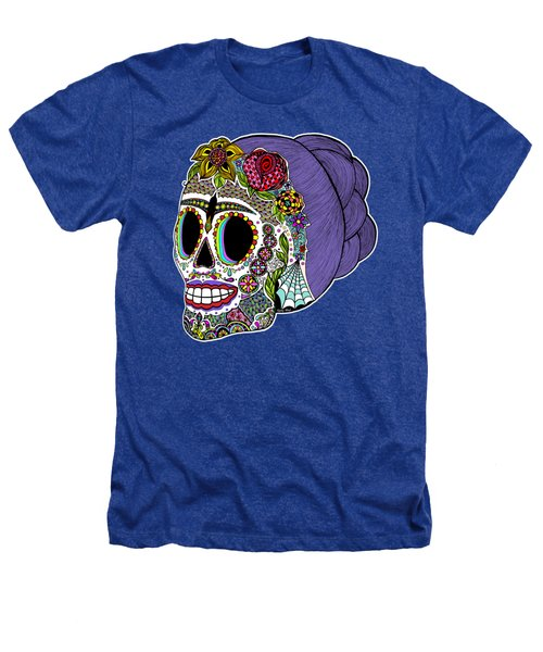 Catrina Sugar Skull Heathers T-Shirt by Tammy Wetzel