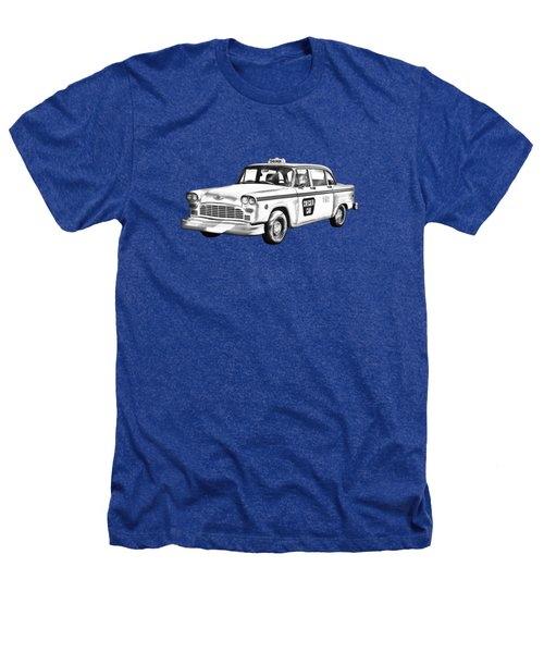 Checkered Taxi Cab Illustrastion Heathers T-Shirt
