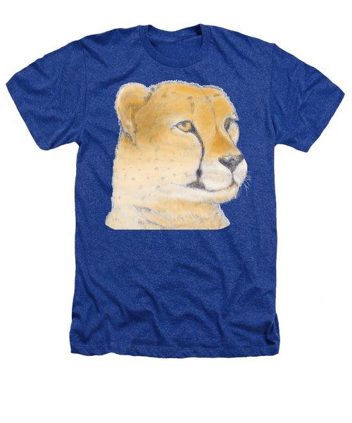 Cheetah 3 Heathers T-Shirt by Gilbert Pennison
