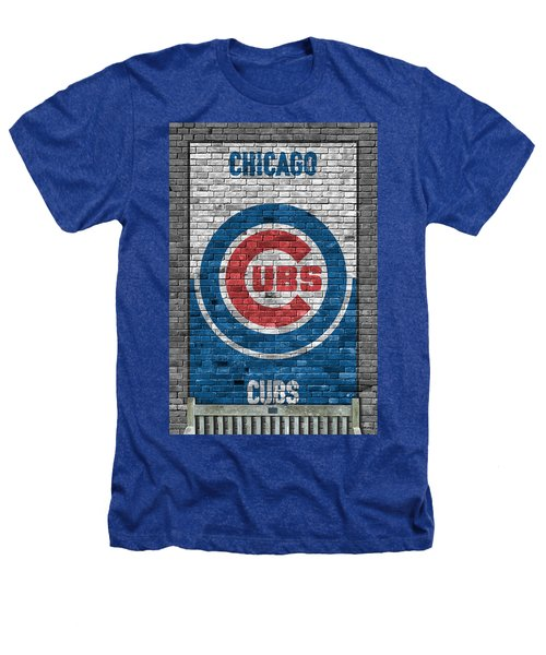 Chicago Cubs Brick Wall Heathers T-Shirt