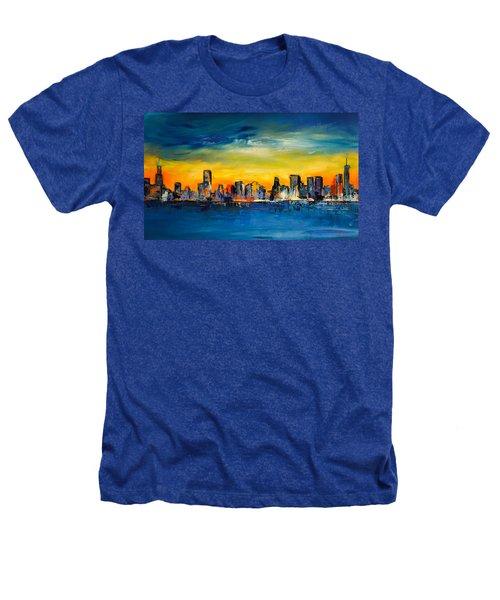 Chicago Skyline Heathers T-Shirt