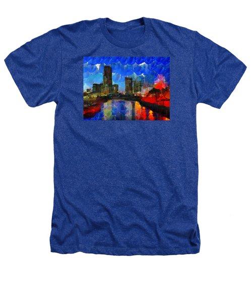 City Living - Tokyo - Skyline Heathers T-Shirt by Sir Josef - Social Critic -  Maha Art