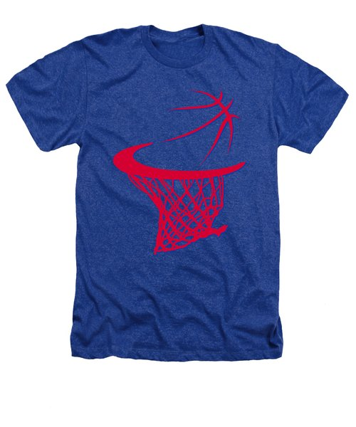 Clippers Basketball Hoop Heathers T-Shirt by Joe Hamilton