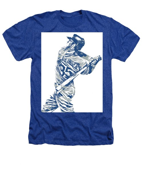 Cody Bellinger Los Angeles Dodgers Pixel Art 10 Heathers T-Shirt