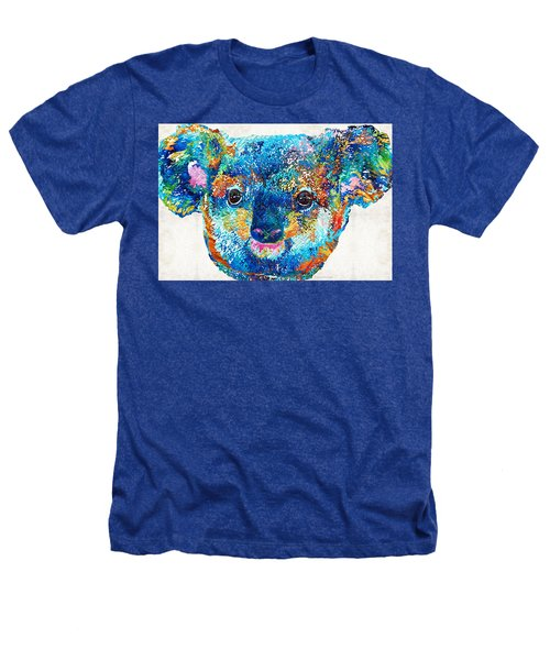 Colorful Koala Bear Art By Sharon Cummings Heathers T-Shirt by Sharon Cummings