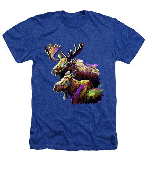 Colorful Moose Heathers T-Shirt by Anthony Mwangi