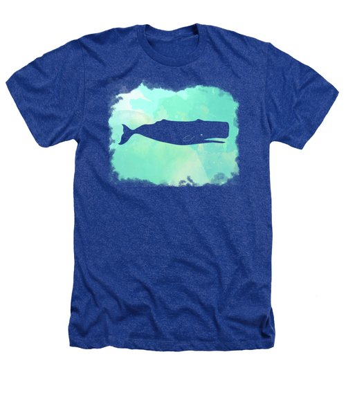 Colorful Watercolor Sperm Whale Sea Life Coastal Art Heathers T-Shirt